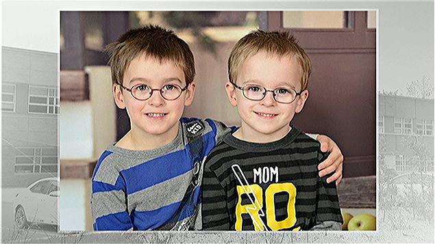 Les jumeaux Loïc et Logan.