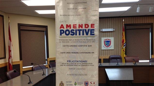 Des amendes « positives » pour féliciter des citoyens exemplaires à Tracadie-Sheila - Radio-Canada