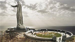 Une illustration du projet de monument « Mère Canada »