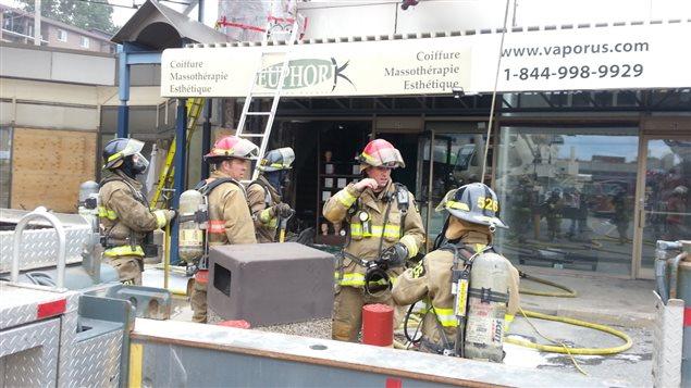 Incendie dans un salon de coiffure de Sherbrooke | ICI.Radio-Canada.ca