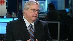 Le ministre de la Santé du Québec, Gaétan Barrette, en entrevue sur RDI.