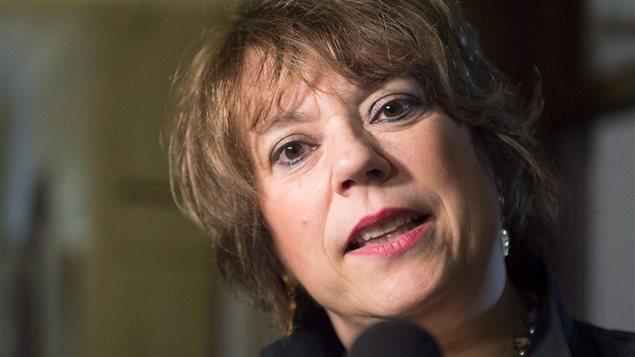 La ministre de la Culture et des Communication du Québec, Hélène David