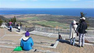 La vue au sommet du mont Saint-Joseph à Carleton-sur-Mer