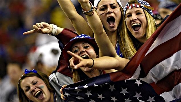 Les États-Unis comptaient sur de très nombreux partisans au Stade olympique