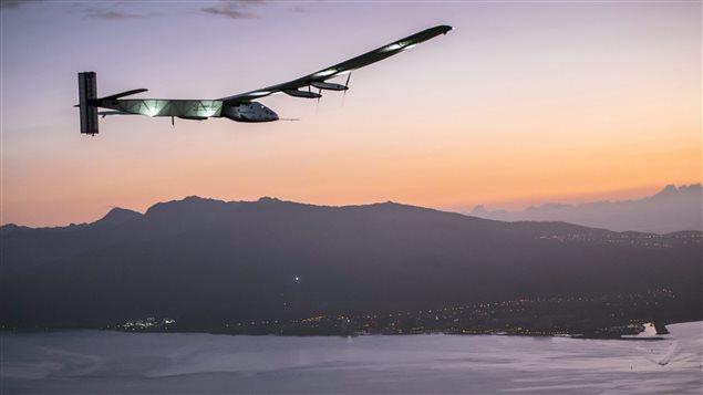 Le Solar Impulse en approche de Honolulu