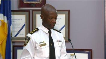 Le chef du Service de police de Winnipeg, Devon Clunis.