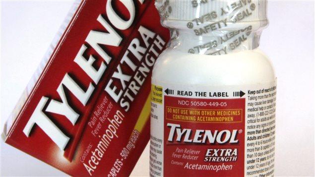 Le Tylenol, notamment, contient de l'acétaminophène.