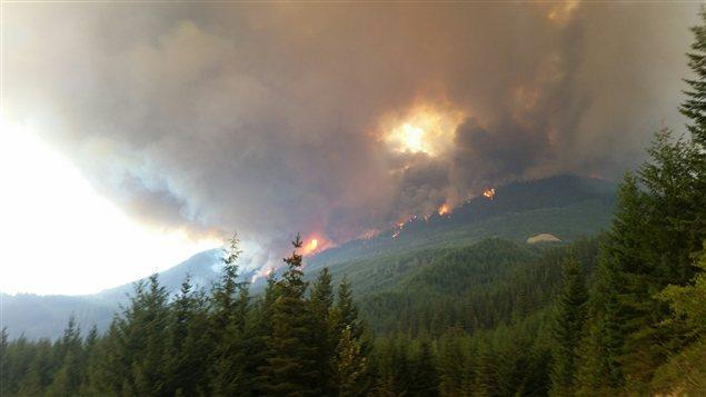 L'incendie de forêt Elaho à l'ouest de Pemberton
