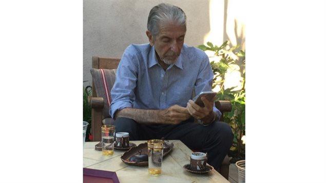 Photo de Leonard Cohen prise le 11 juillet 2015