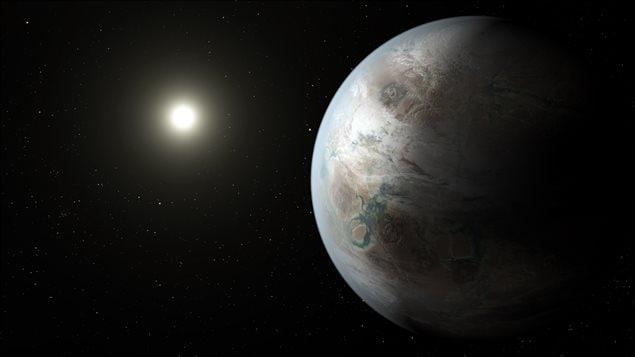 Impression artistique de l'exoplanète Kepler-452b