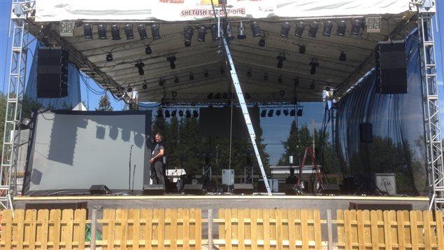 La scène du festival