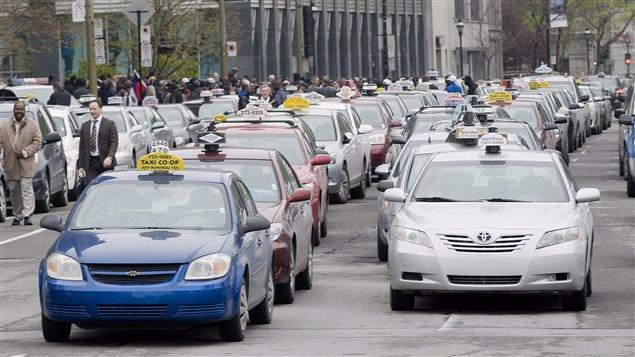 Des taxis à Montréal (archives)