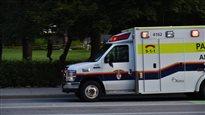 Un véhicule des ambulanciers-paramédicaux d'Ottawa.