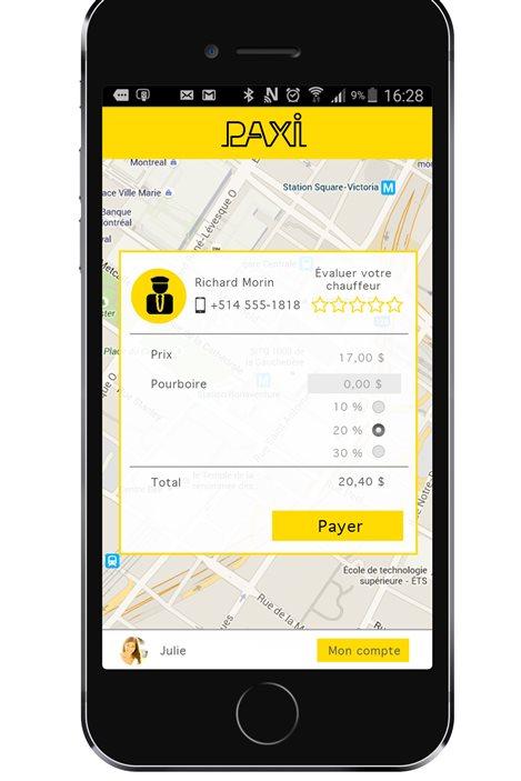 Une nouvelle application mobile destinée aux chauffeurs de taxi et à leurs clients permettra de payer les course avec un téléphone intelligent.