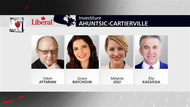 Les quatre candidats à l'investiture libérale dans Ahuntsic-Cartierville