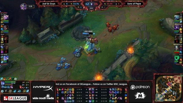 Une capture d'écran du jeu League of Legends, l'un des jeux vidéo les plus populaire au sein de la communauté de twitcheurs