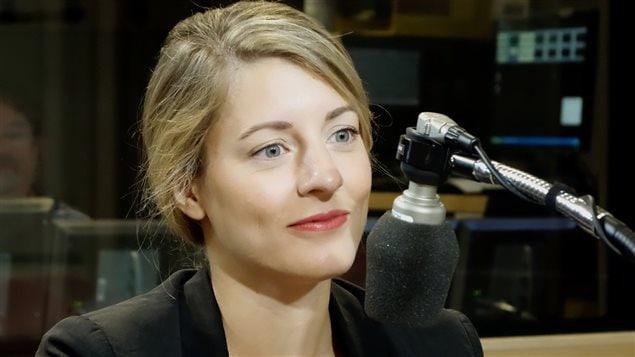 La candidate libérale Mélanie Joly en entrevue à <em>Gravel le matin </em>