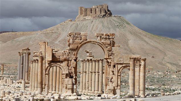Une partie des vestiges de Palmyre
