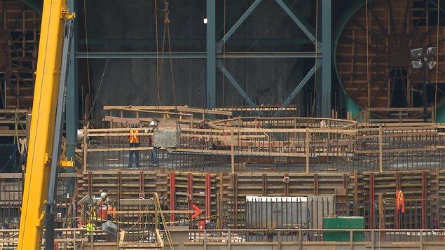 Le chantier de la centrale Romaine 3