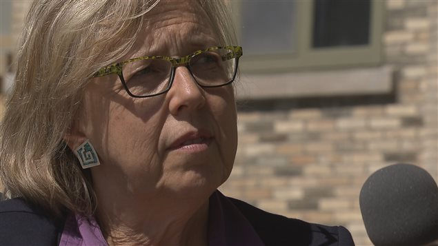 Elizabeth May, chef du Parti vert du Canada