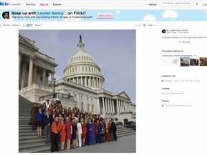 La page Flickr de la démocrate américaine Nancy Pelosi