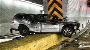Le véhicule accidenté de Carl Shunamon.