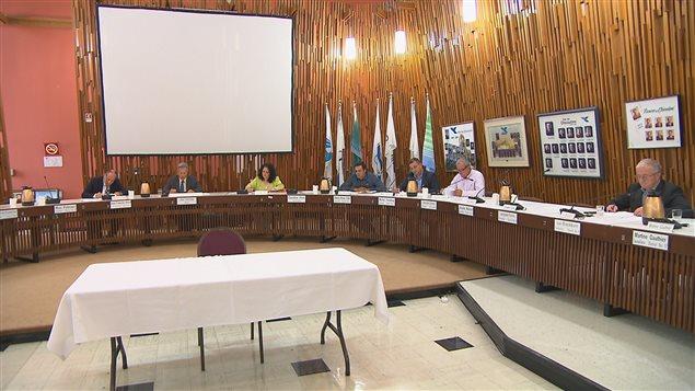 La séance du conseil de ville de Saguenay.