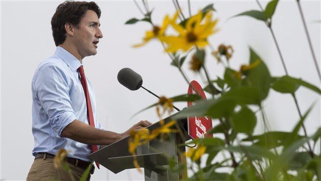Justin Trudeau à Trois-Rivières, le 2 septembre