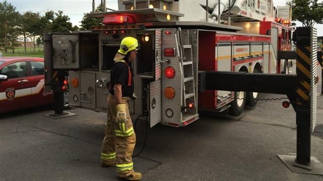 Martine Côté visite une caserne de pompiers!