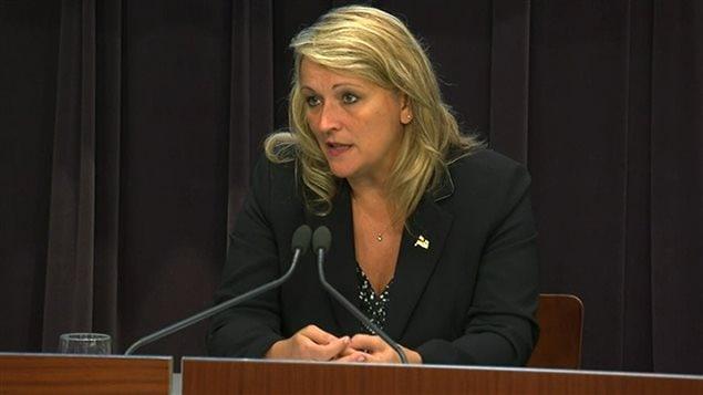La ministre de la Sécurité publique du Québec, Lise Thériault, le dimanche 13 septembre 2015