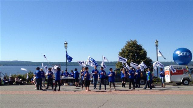 Manifestation à Ville-Marie