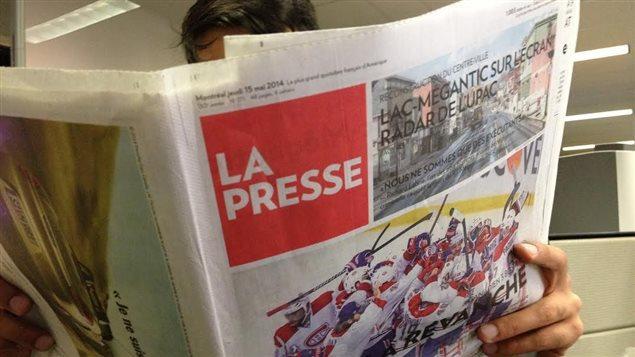 La Presse en version papier.
