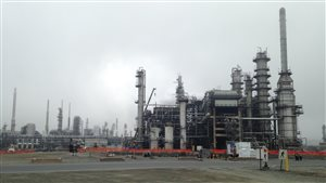 La raffinerie Irving Oil, à Saint-Jean, au Nouveau-Brunswick