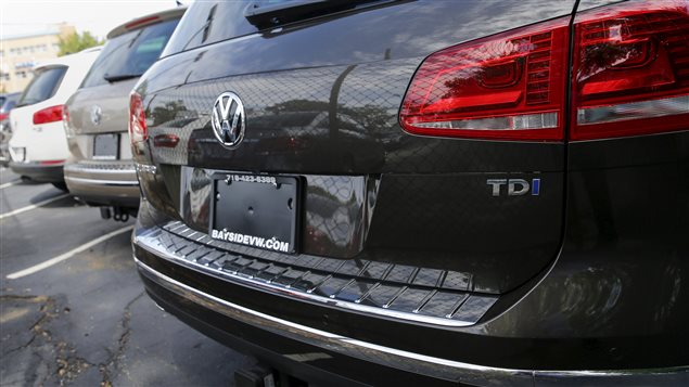 Une Volkswagen Touareg TDI grise