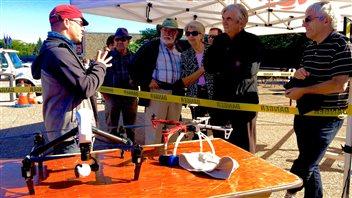 Une démonstration de drones à Radio-Canada