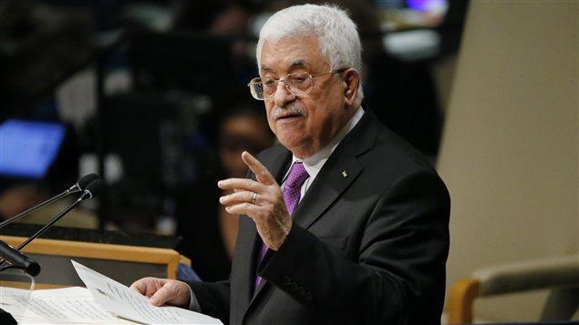 Le président de l'Autorité palestinienne Mahmoud Abbas à la tribune des Nations unies à New York.