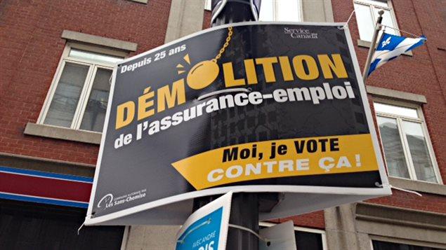 Un affiche électorale.