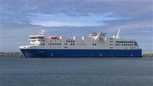 Le nouveau navire de la traverse Matane - Baie-Comeau - Godbout, le F. A.-Gauthier