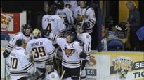 Victoire des Tigres de Victoriaville contre le Screaming Eagles du Cape Breton