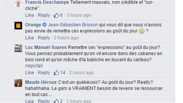 Discussions sur la page d'Orange