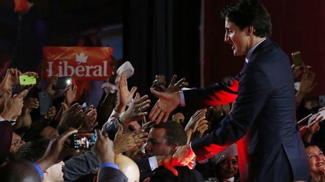 Justin Trudeau en territoire libéral