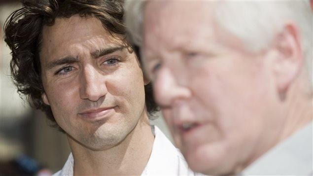 Justin Trudeau et Bob Rae, alors chef intérimaire du PLC, en 2012