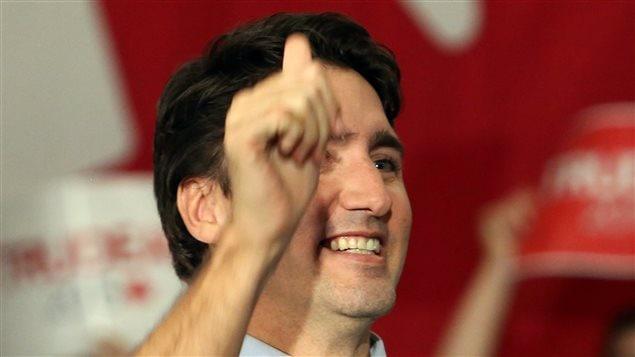 Justin Trudeau, premier ministre désigné du Canada, au lendemain de sa victoire électorale