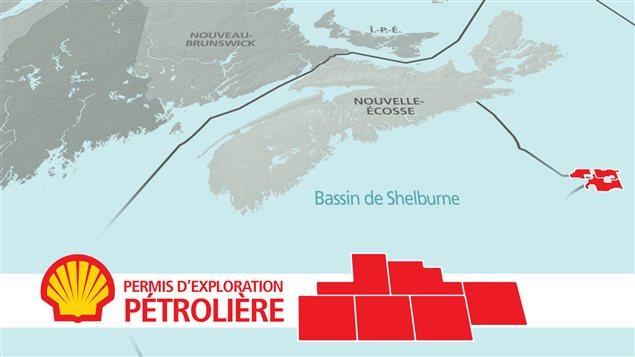 Permis d'exploration pétrolière de Shell dans le bassin de Shelburne