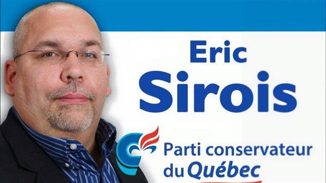 Eric Sirois, candidat du Parti conservateur du Québec dans René Lévesque.