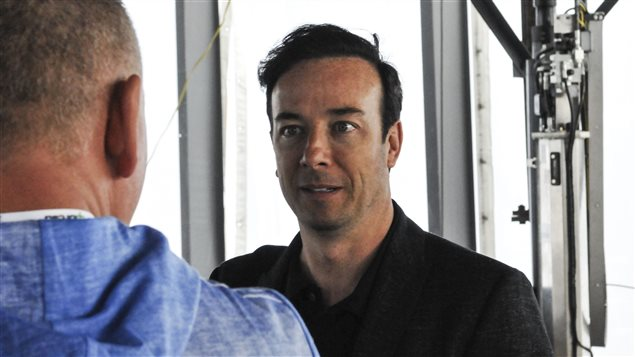Le promoteur Luc Poirier, président du Rubic, la construction qui teste la technologie «Upbrella».