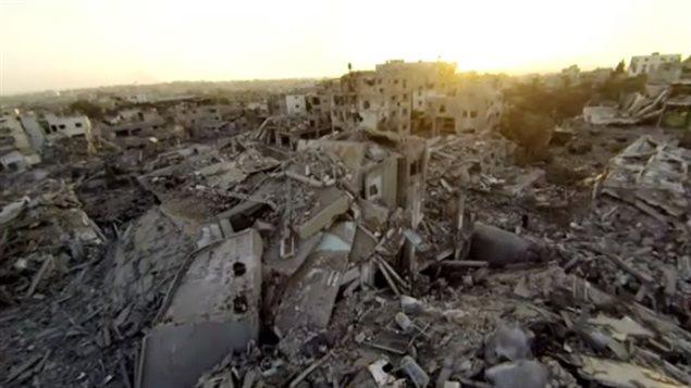 Bande de Gaza après la guerre de 2014