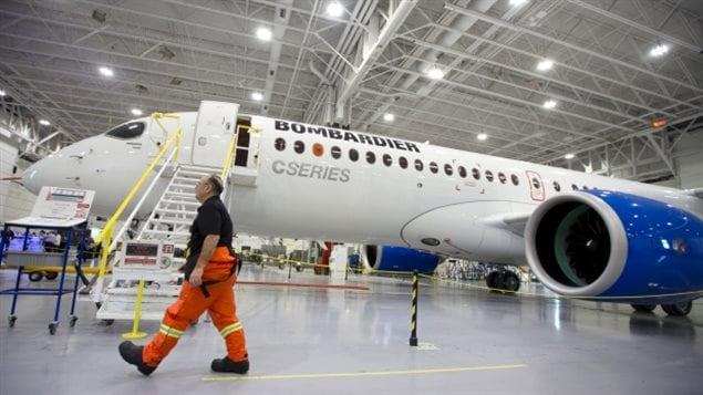 Un appareil CSeries de Bombardier