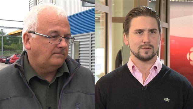 Les deux hommes d'affaires rimouskois Jean Pouliot et Jean-Maxime Mercier