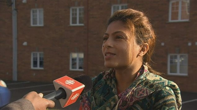 L'épouse de Raif Badawi, Ensaf Haidar, est très heureuse du prix reçu par son mari ce matin.